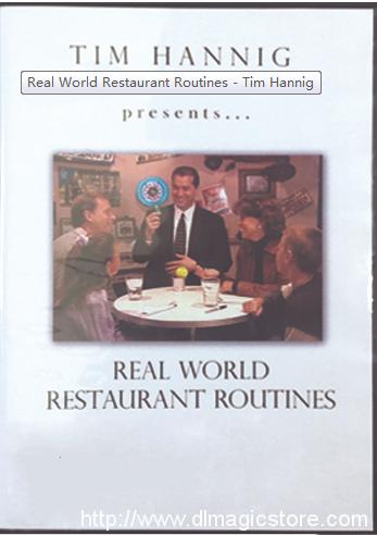 Real World Restaurant Routines – Tim Hannig