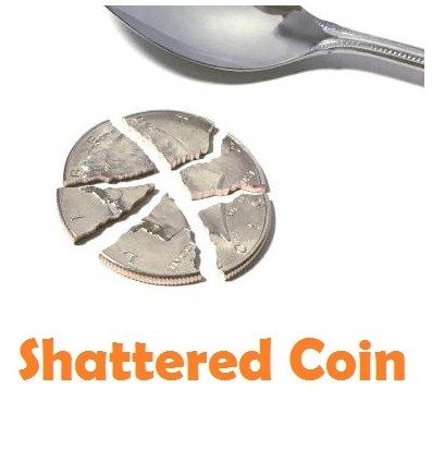 Shattered Coin by SEO Magic (Gimmick Not Included)