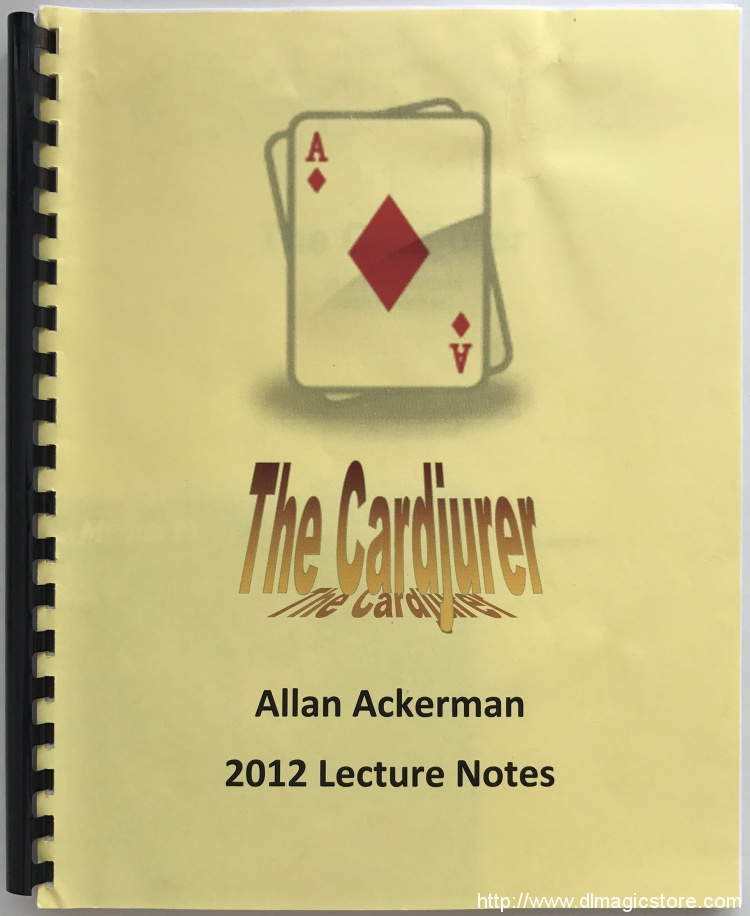 The Cardjurer by Allan Ackerman (2012 Lecture Notes)