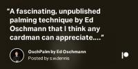The OschPalm by Ed Oschmann