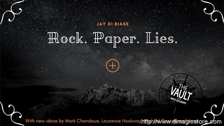 The Vault – Rock Paper Lies Plus by Jay Di Biase