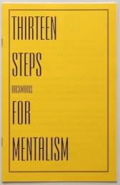Thirteen Steps Backwards for Mentalism by Michael Weber