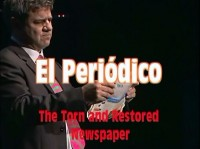 Torn and Restored Newspaper by Antonio Romero