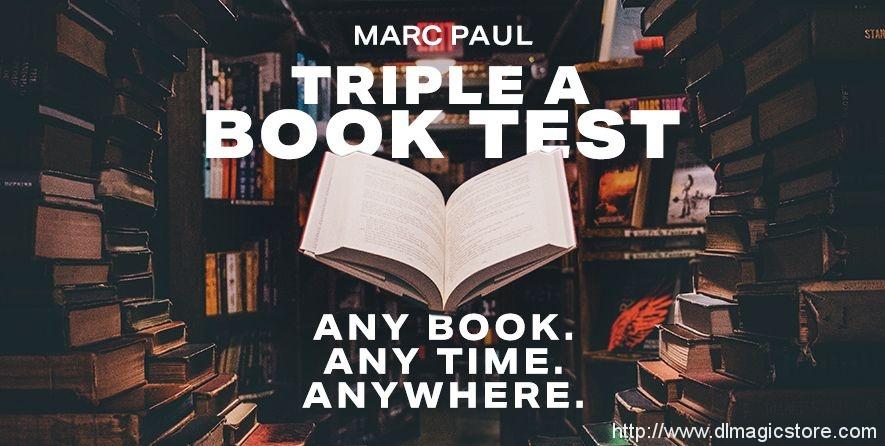 Triple A Book Test by Marc Paul