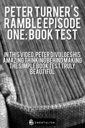 PETER TURNER'S WEEKLY RAMBLE EPISODE ONE: BOOK TEST (INSTANT DOWNLOAD)