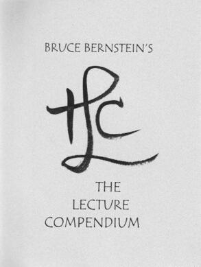 The Lecture Compendium by Bruce Bernstein