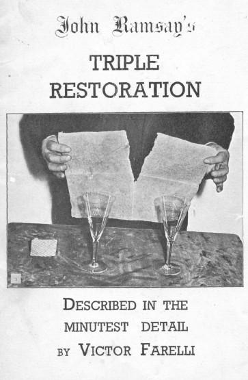 Triple Restauration By Victor Farelli