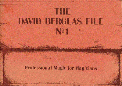 The David Berglas File 1 by Peter Warlock
