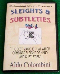 SLEIGHTS AND SUBTLETIES by Aldo Colombini 3 Volume set
