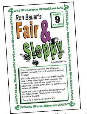 Ron Bauer 09 Fair and Sloppy