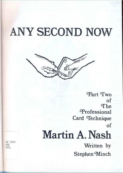 Any Second Now by Martin A. Nash