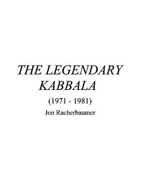The Legendary Kabbala By Jon Racherbaumer
