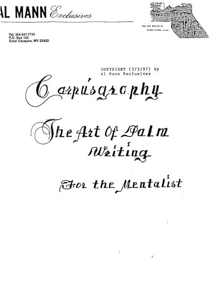 Carpusgraphy by Al Mann