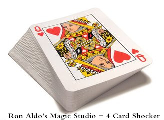 4 Card Shocker by Ron Aldo's Magic Studio