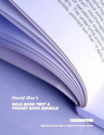 David Hoy's Bold Book Test & Pocket Book Miracle