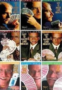 Easy To Master Card Miracles by Michael Ammar 9 Volume set