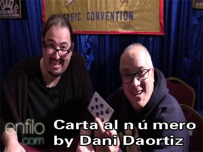 Carta al número by Dani Daortiz