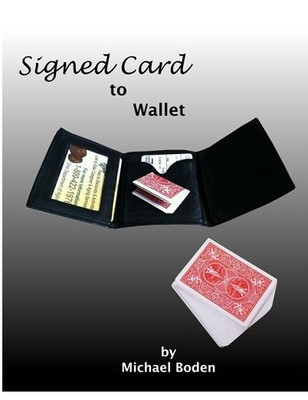 Signed Card to Wallet by Michael Boden
