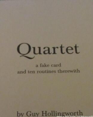 Quartet book by Guy Hollingworth