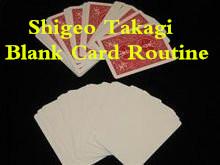Blank Card Routine by Shigeo Takagi
