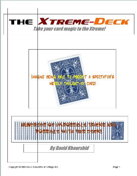 Xtreme Deck by David Khourshid