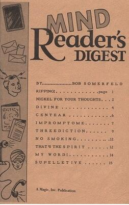 Mind Reader's Digest by Bob Somerfeld