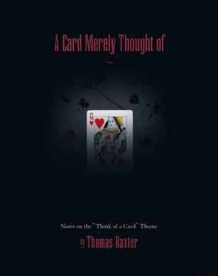A Card merely thought of by Thomas Baxter