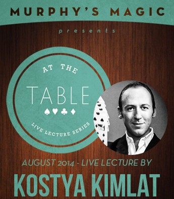 At the Table Live Lecture by Kostya Kimlat