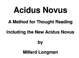 Acidus Novus Plus included by Al Mann