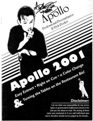 Lecture Note Apollo 2001 by Apollo Robbins