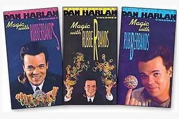 Magic With Rubber Bands by Dan Harlan 3 Volume set