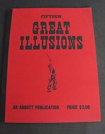 Fifteen Great Illusions Abbott Publication Magic Tricks