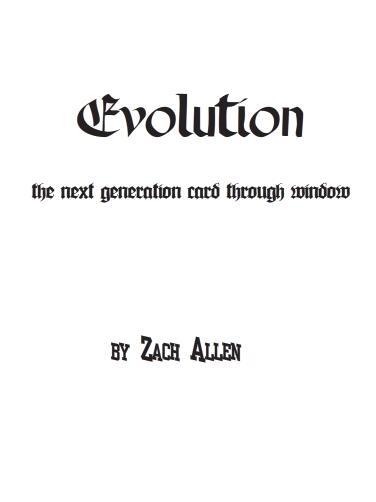 Evolution by Zach Allen
