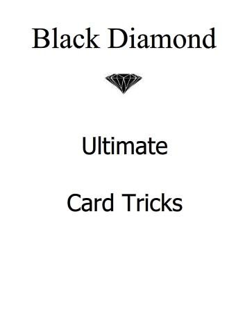 Ultimate Card Tricks by Black Diamond