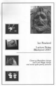Lecture Notes Blackpool 2007 by Ian Rowland