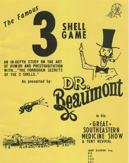 3 shell game by Dr. Beaumont
