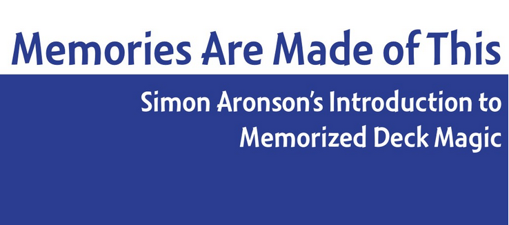Memories Are Made of This by Simon Aronson