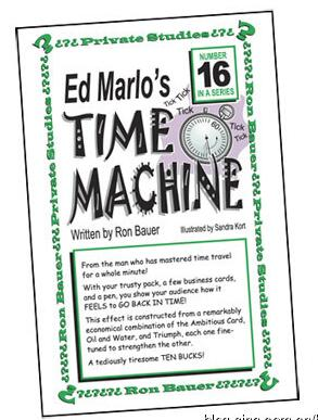 Ron Bauer 16 Ed Marlo's Time Machine