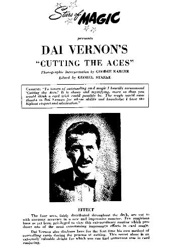 Stars Of Magic Dai Vernon Cutting The Aces