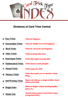 Cardtrick Central Best of Cards