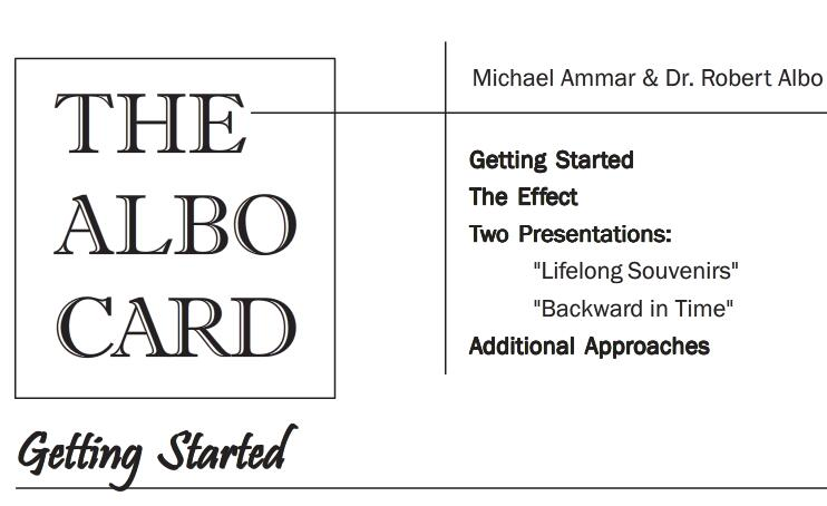 The Albo Card by Michael Aammar & Dr Robert Albo