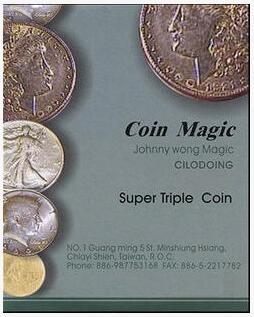 Johnny Wong Super Triple Coin Eisenhower Dollar