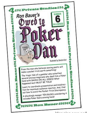 Ron Bauer 06 Owed to Poker Dan Envelope