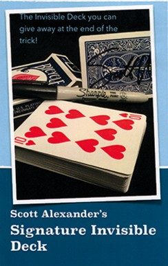 Signature Invisible Deck by Scott Alexander