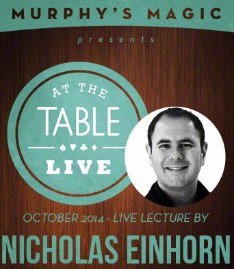 At the Table Live Lecture by Nicholas Einhorn