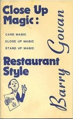 Close Up Magic Restaurant Style 1982 by Barry Govan