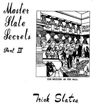 Master Slate Secrets III by Al Mann
