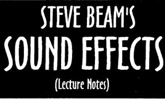 Sound Effects by Steve Beam
