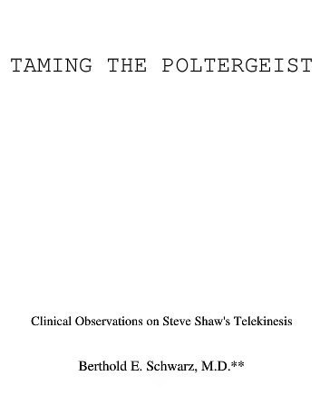 Taming The Poltergeist by Banachek