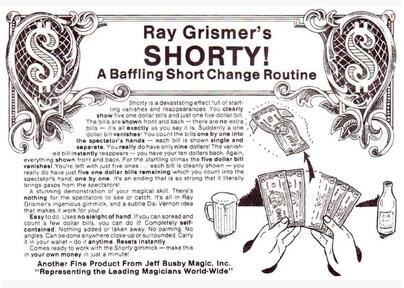 SHORTY! by Ray Grismer